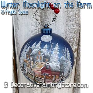 Winter Moonlight Night on the Farm - Phyllis Spaw - PDF DOWNLOAD