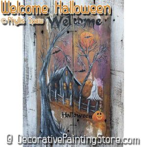 Welcome Halloween Sign - Phyllis Spaw - PDF DOWNLOAD