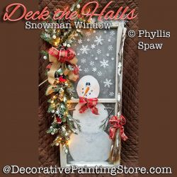 Deck the Halls Snowman Window - Phyllis Spaw - PDF DOWNLOAD