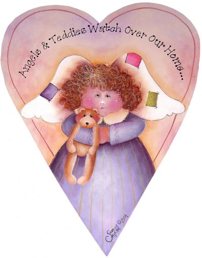 Angel and Teddy Primitive Heart By Mail - Sharon Chinn - PDF Download