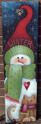 Winter Snowman Sign BY MAIL