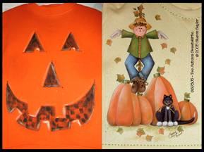 Scarecrow and PumpkinSweatshirts PDF Download  - Sharon Chinn