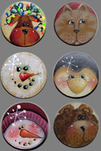 Poker Face Pins BY MAIL - Sharon Chinn