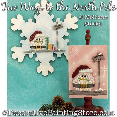 Two Ways to the North Pole (Owl) Painting Pattern PDF DOWNLOAD - Molliann Stocks