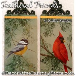 Feathered Friends (Chickadee - Cardinal) Painting Pattern PDF DOWNLOAD - Kathy Swigon