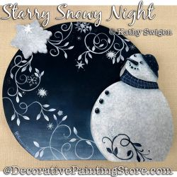 Starry Snowy Night Painting Pattern PDF DOWNLOAD - Kathy Swigon