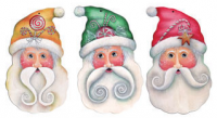 Santas Candy Stache Pins - Set of 3