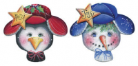 Holly and Jolly Ornaments - Set of 2 Blanks