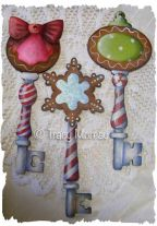 Sweet Christmas Cookies Key Ornaments ePattern - Tracy Moreau - PDF DOWNLOAD