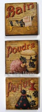 Bain, Poudre, Parfum Square Canvases ePattern - Tracy Moreau - PDF DOWNLOAD