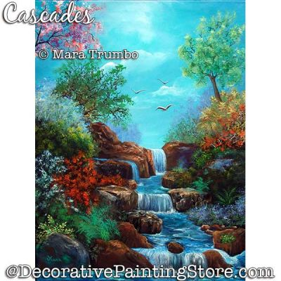 Cascades Painting Pattern PDF DOWNLOAD - Mara Trumbo