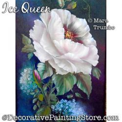 Ice Queen (White Rose) Painting Pattern PDF DOWNLOAD - Mara Trumbo