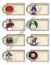 Prim Christmas eTags 03 - Set of 8