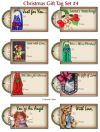Christmas Gift Tags Collection #4 - Set of 8