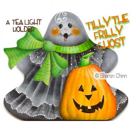 Tilly the Frilly Ghost Painting Pattern By Mail - Sharon Chinn