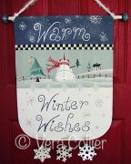 Warm Winter Wishes Banner e-Pattern - Vera Collier - PDF DOWNLOAD