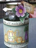 Friendship Tea Jar Wrap ePattern - Vera Collier - PDF DOWNLOAD