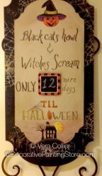 Halloween Countdown ePattern - Vera Collier - PDF DOWNLOAD