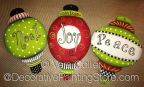 Whimsical Ornament Trio ePattern - Vera Collier - PDF DOWNLOAD