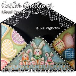 Easter Greetings Metal Envelope Painting Pattern PDF DOWNLOAD - Liz Vigliotto