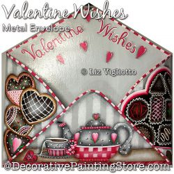 Valentine Wishes Metal Envelope Painting Pattern PDF DOWNLOAD - Liz Vigliotto