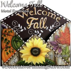 Welcome Fall Metal Envelope Painting Pattern PDF DOWNLOAD - Liz Vigliotto