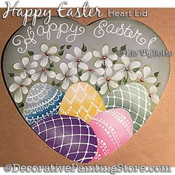 Happy Easter Heart Lid Painting Pattern PDF DOWNLOAD - Liz Vigliotto