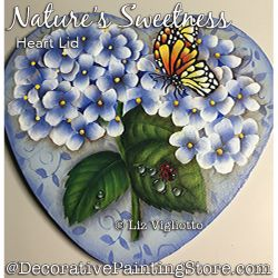 Natures Sweetness Heart Lid Painting Pattern PDF DOWNLOAD - Liz Vigliotto