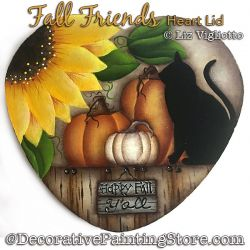 Fall Friends Heart Lid Painting Pattern PDF DOWNLOAD - Liz Vigliotto