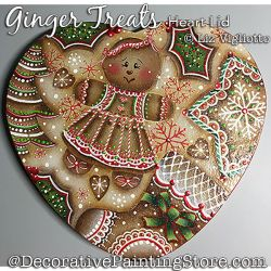 Ginger Treats Heart Lid Painting Pattern PDF DOWNLOAD - Liz Vigliotto