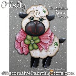 O Lally (Lamb) Painting Pattern PDF DOWNLOAD - Martina Elena Vivoda