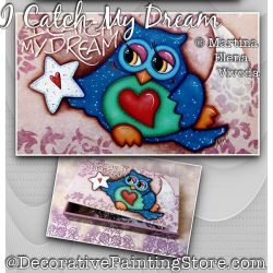 I Catch My Dream (Owl) Painting Pattern PDF DOWNLOAD - Martina Elena Vivoda