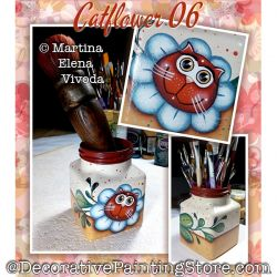 Catflower 06 Painting Pattern PDF DOWNLOAD - Martina Elena Vivoda