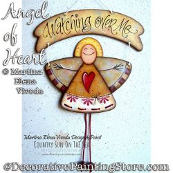 Angel of Heart Painting Pattern PDF DOWNLOAD - Martina Elena Vivoda