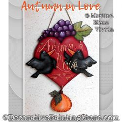 Autumn in Love Painting Pattern PDF DOWNLOAD - Martina Elena Vivoda