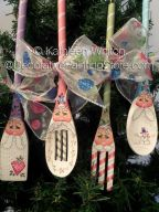 Santa Spoon Ornies Pattern - Kathleen Whiton - PDF DOWNLOAD