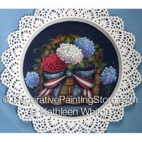 Patriotic Hydrangea ePattern - Kathleen Whiton - PDF DOWNLOAD