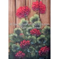 Backyard Geraniums ePattern - Kathleen Whiton - PDF DOWNLOAD