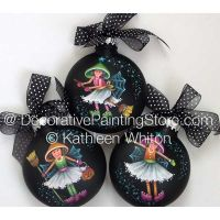 Witches Wearing Tutus Ornaments Pattern - Kathleen Whiton - PDF DOWNLOAD