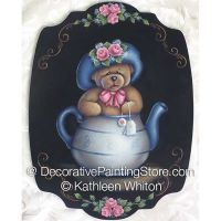 Teddy in a Teapot Pattern - Kathleen Whiton - PDF DOWNLOAD