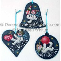 Frolicking Snowmen Pattern - Kathleen Whiton - PDF DOWNLOAD