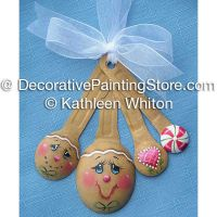 Gingerbread Measuring Spoons Ornament Pattern - Kathleen Whiton - PDF DOWNLOAD
