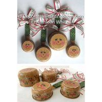 Gingerbread Measuring Cups Ornaments Pattern - Kathleen Whiton - PDF DOWNLOAD
