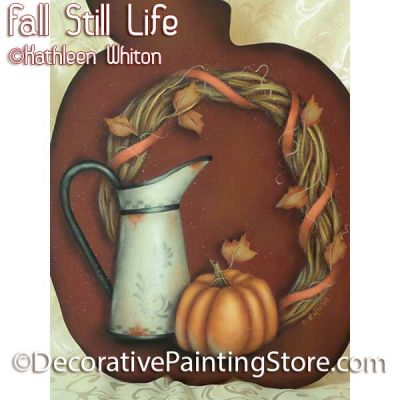 Fall Still Life Pattern - Kathleen Whiton - PDF DOWNLOAD