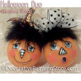 Halloween Duo Pattern - Kathleen Whiton - PDF DOWNLOAD