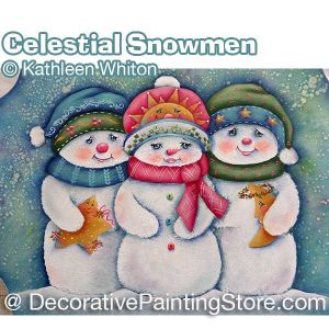Celestial Snowmen Pattern - Kathleen Whiton - PDF DOWNLOAD