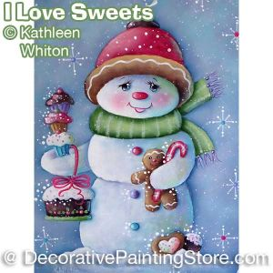 I Love Sweets Snowmen Pattern - Kathleen Whiton - PDF DOWNLOAD