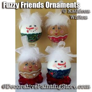 Fuzzy Friends Ornaments Pattern - Kathleen Whiton - PDF DOWNLOAD