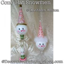 Cone Hat Snowmen DOWNLOAD - Kathleen Whiton