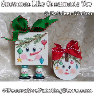 Snowmen Love Ornaments Too DOWNLOAD - Kathleen Whiton